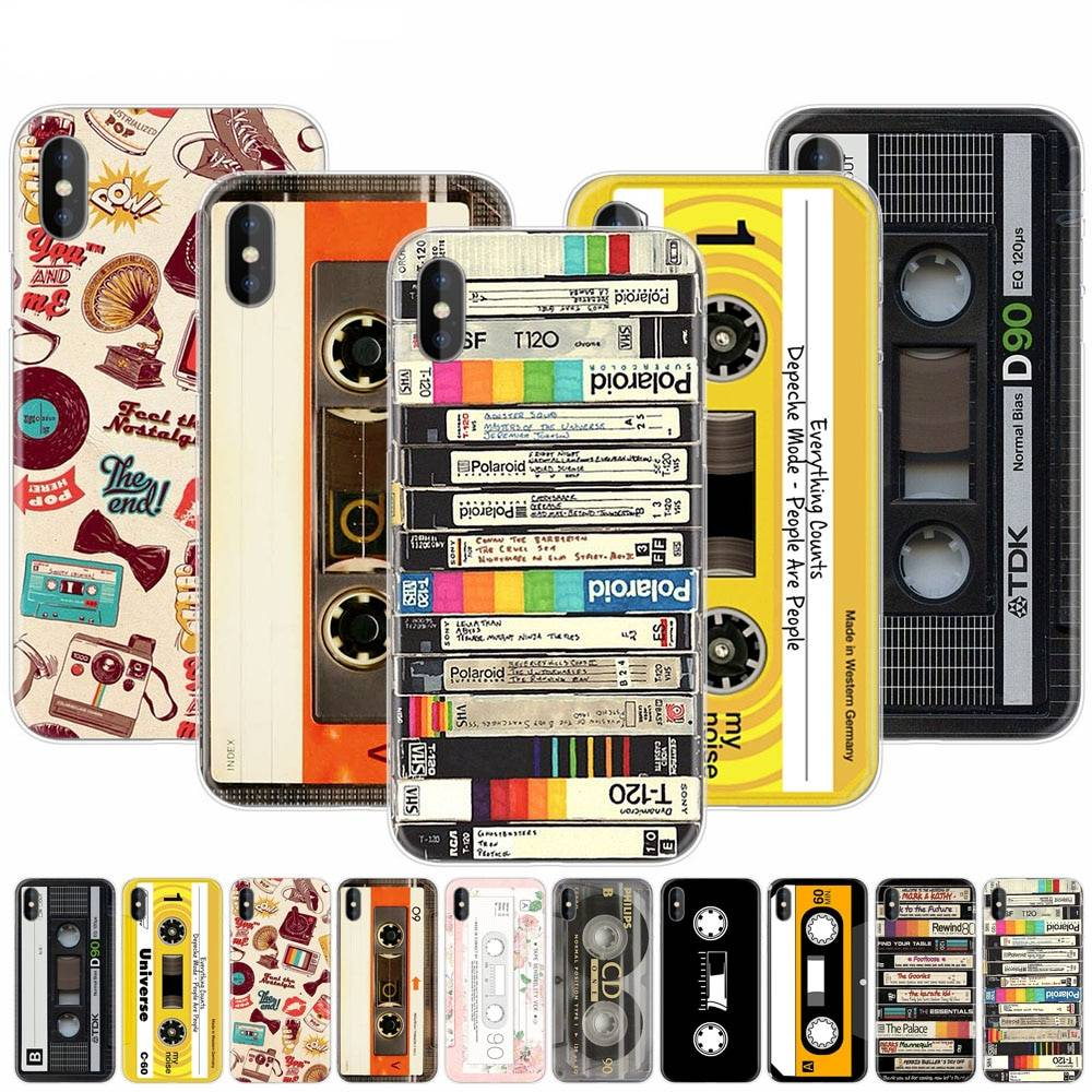 Coque impression cassette audio pour iPhone
