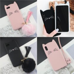 coque iPhone oreille de chat