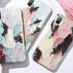 Coque Peinture Relief 3D pour iPhone