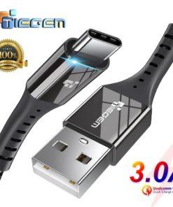 Cable USB-C en nylon de 3A, Charge rapide.