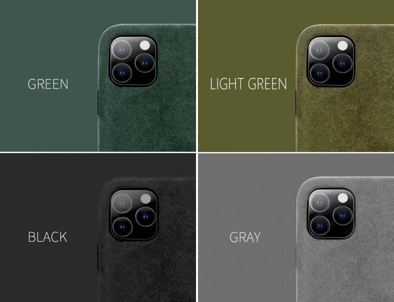 Coque de luxe Cuir Alcantara pour iPhone 11