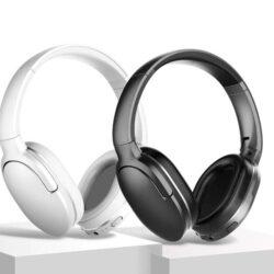 Baseus Encok D02 HiFi Casque Bluetooth sans fil Basse lourde Casque audio 3,5 mm pliable avec micro