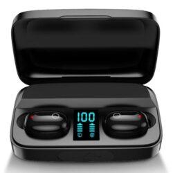 Ecouteurs bluetooth Sport Affichage Led et batterie externe