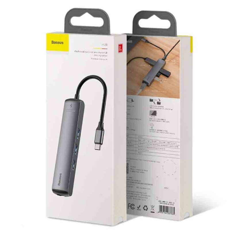 Adaptateur Baseus USB-C, HDMI, RJ45, lecteur de Carte