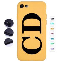 Coque initiales personnalisée pour iPhone