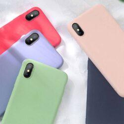 Coque silicone liquide pour iPhone