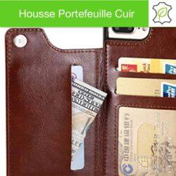 Housse et portefeuille cuir de qualité pour iPhone