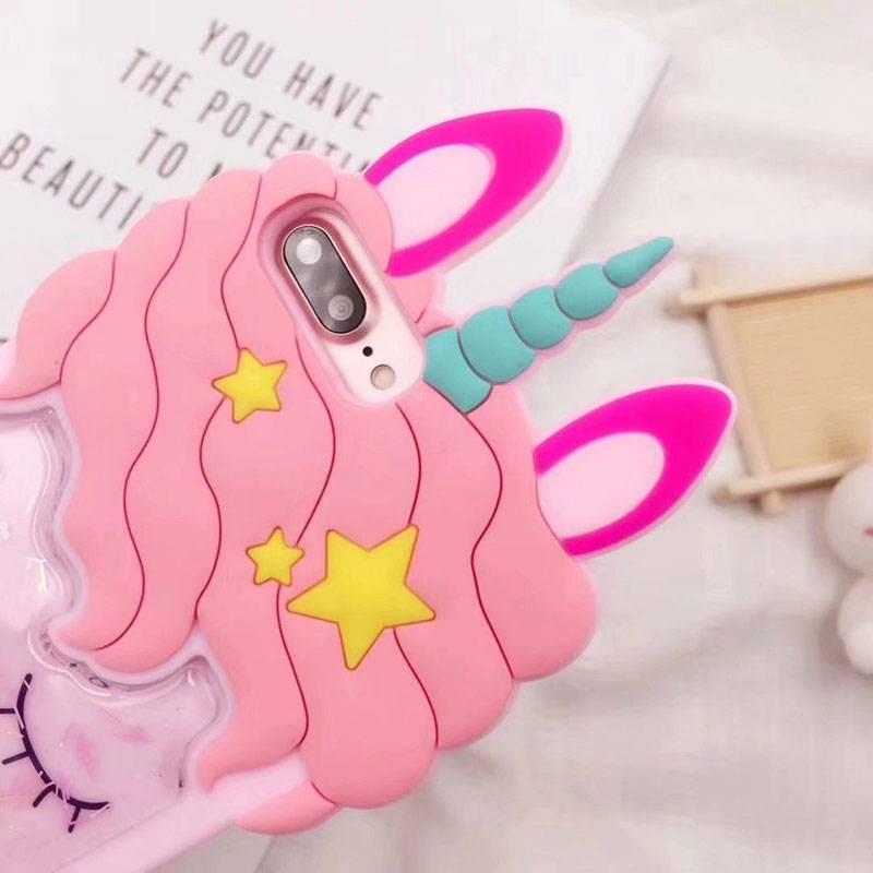 Coque licorne rose 3D pour iPhone