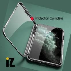 Double-Coque-transparente-Adsorption-magnetique-Luxe-iPhone-iZPhone