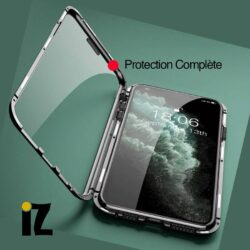 Double Coque iPhone Adsorption Magnétique