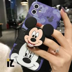 Etui-de-protection-mickey-mouse-relief-3D-avec-support-prise-en-main-pour-iPhone-iZPhone