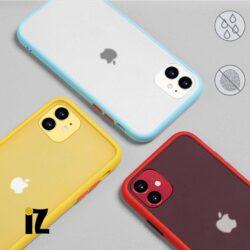 Coque iPhone translucide boutons de couleurs
