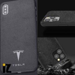 Étui Tesla pour iPhone Mat Sensation Luxe alcantara