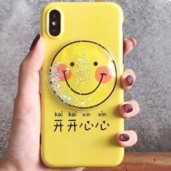 coque-etui-iphone-smile-jaune-iZPhone