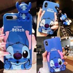 coque-iphone-stitch-extraterrestre-bleue-support-porte-cles-iZPhone
