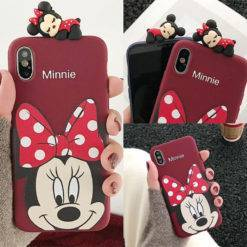 coque-minnie-support-3D-figurine-pour-fille-iPhone