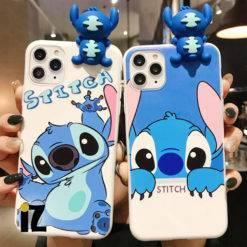 coque-stitch-figurine-3D-bleu-iphone-iZPhone