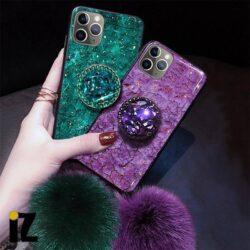 Coque iPhone pompon diamant chic