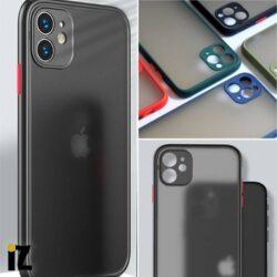 Coque translucide givrée pour iPhone