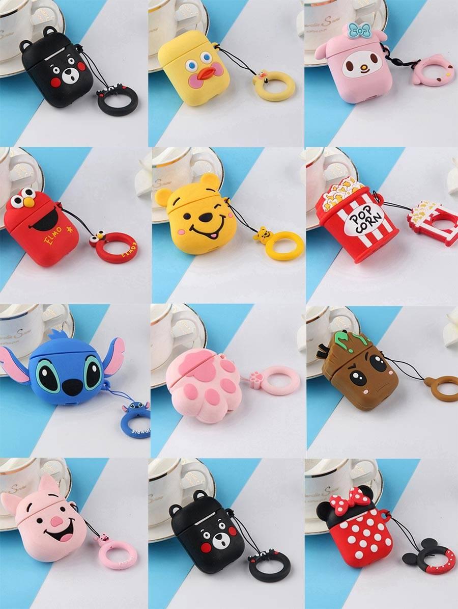 etui-AirPods-silicone-protection-airpods-silicone-fun-mignon-cartoon-elmo-stich-minnie-pop-corn-iZPhone