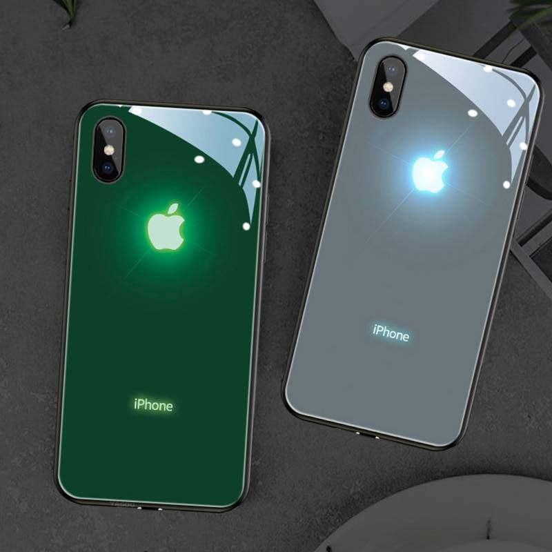 Coque iPhone logo Apple lumineux