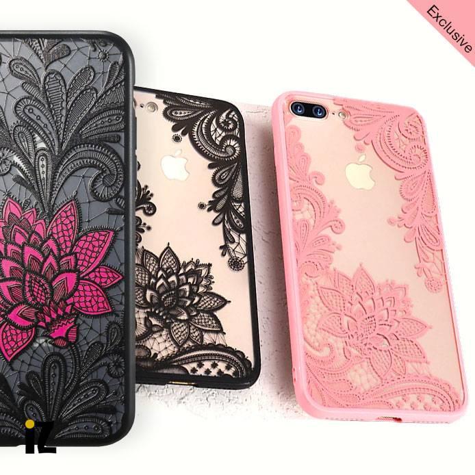 Coque iPhone fleur et dentelle