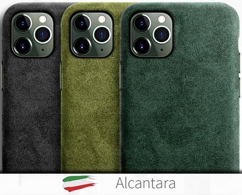 Coque de luxe Cuir Alcantara iPhone 12
