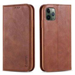 Étui portefeuille à rabat pour iPhone 11