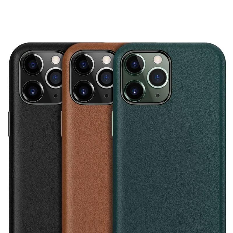 Coque de luxe en cuir véritable pour iPhone 11
