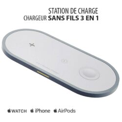 Station de charge sans fils: Apple iPhone, Apple Watch, AirPods