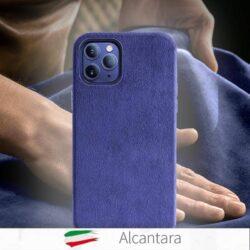 Coque de luxe cuir Alcantara pour iPhone 12