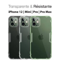 Coque iPhone 12 transparente et résistante Crytal Clear