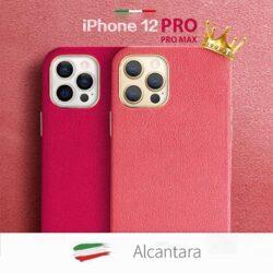 coque-cuir-alcantara-iphone-12-Pro-iphone-12-Pro-max-couleurs-cuir-rose-orange-izphone-official-store