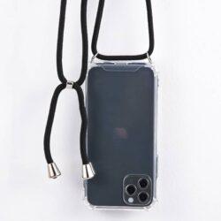 Étui de protection pour iPhone transparent Tour de cou