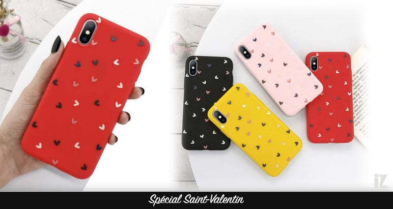 coque-iphone-petits-coeurs-3D-special-saint-valentin