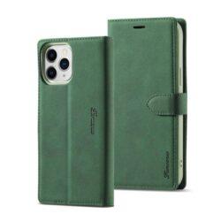 Coque iPhone Cuir Vert Magnétique