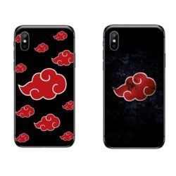 Coque iPhone Naruto nuage rouge