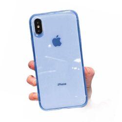 Coque Silicone Bleu transparente