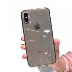 Coque iPhone Silicone transparent Noir