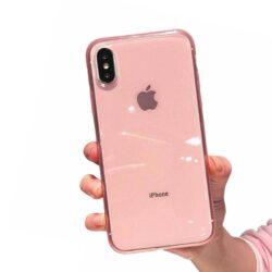 Coque iPhone Silicone Rose