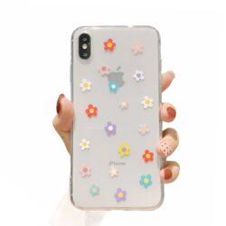 Coque iPhone Fleur multicolore