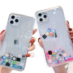 Coque transparente iPhone motif