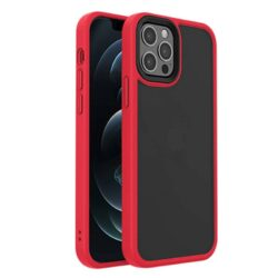 Coque transparente iPhone 12 Rouge